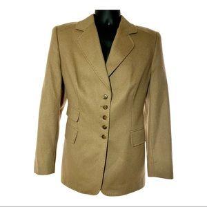 Escada | Women's 100% Camel Five Button Blazer